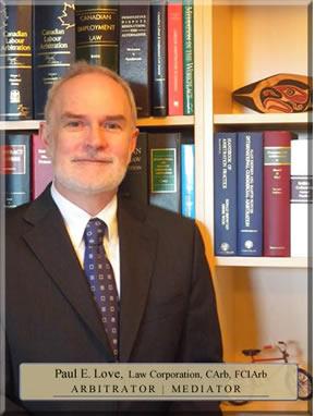 Paul Love Arbitrator Mediator